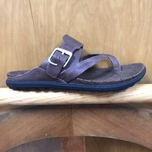 Merrell Around Town Thong Buckle Brown